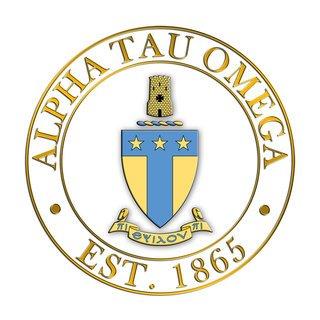 Alpha Tau Omega Circle Crest - Shield Decal