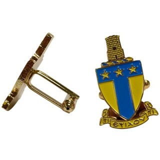 Alpha Tau Omega Color Crest - Shield Cuff links