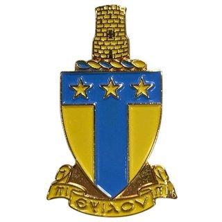 Alpha Tau Omega Color Crest - Shield Pins