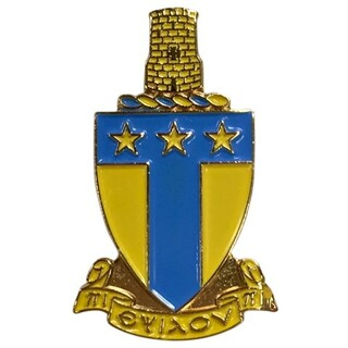 Alpha Tau Omega Color Crest - Shield Pins