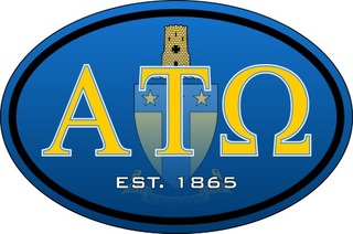 Alpha Tau Omega Color Oval Decal