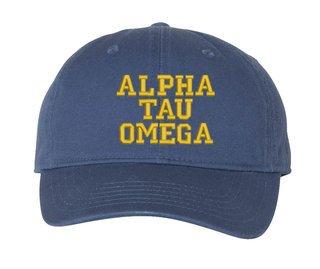 Alpha Tau Omega Comfort Colors Pigment Dyed Baseball Cap