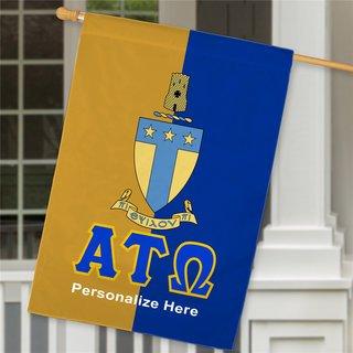 Alpha Tau Omega Crest House Flag
