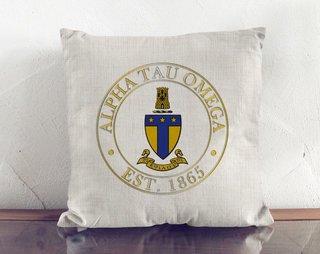 Alpha Tau Omega Crest Linen Pillow