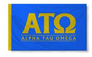 Alpha Tau Omega Custom Line Flag