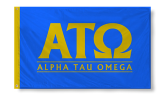 Alpha Tau Omega Custom Line Flag