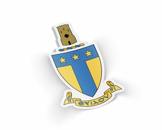 Alpha Tau Omega Die Cut Crest Sticker