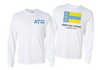 Alpha Tau Omega Flag Long Sleeve T-shirt