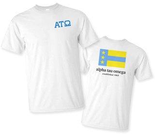 Alpha Tau Omega Flag T-Shirt