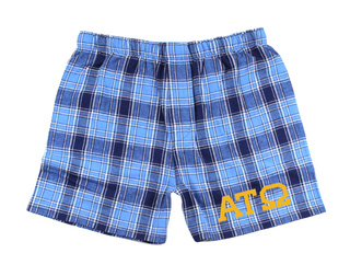 Alpha Tau Omega Flannel Boxer Shorts