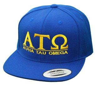 Alpha Tau Omega Flatbill Snapback Hats Original