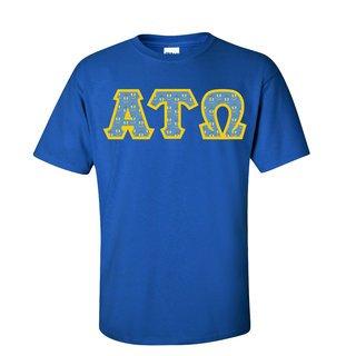 Alpha Tau Omega Fraternity Crest - Shield Twill Letter Tee