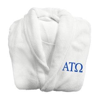 Alpha Tau Omega Fraternity Lettered Bathrobe