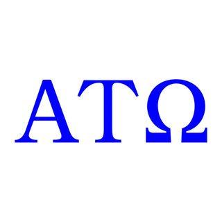 Alpha Tau Omega Greek Letter Window Sticker Decal