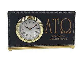 Alpha Tau Omega Horizontal Desk Clock