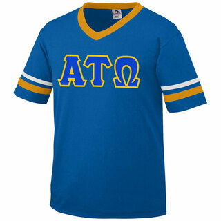 DISCOUNT-Alpha Tau Omega Jersey With Greek Applique Letters