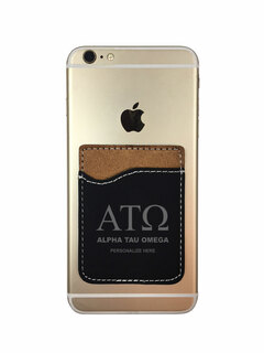 Alpha Tau Omega Leatherette Phone Wallet