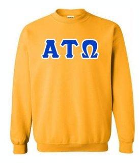 Alpha Tau Omega Sewn Lettered Crewneck Sweatshirt