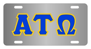 Alpha Tau Omega Lettered License Cover