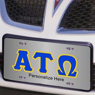 Alpha Tau Omega Lettered License Cover