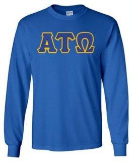 Alpha Tau Omega Lettered Long Sleeve Shirt