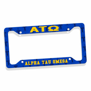 Alpha Tau Omega Custom License Plate Frame