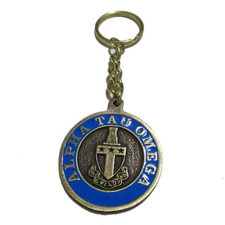 Alpha Tau Omega Metal Fraternity Key Chain