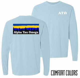 Alpha Tau Omega Outdoor Long Sleeve T-shirt - Comfort Colors