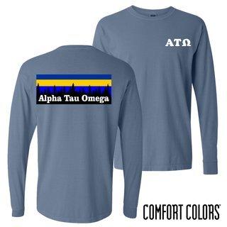 Alpha Tau Omega Outdoor Long Sleeve T-shirt - Comfort Colors
