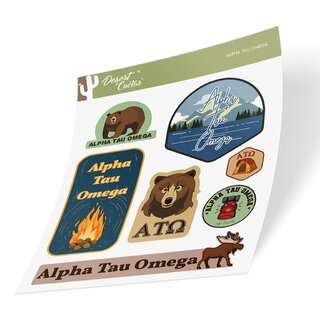 Alpha Tau Omega Outdoor Sticker Sheet