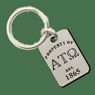 Alpha Tau Omega Property of Tag Keychain - CLOSEOUT