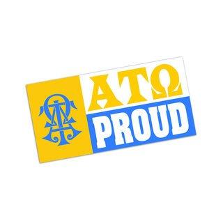 Alpha Tau Omega Proud Bumper Sticker - CLOSEOUT