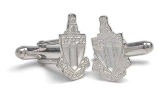 Alpha Tau Omega Sterling Silver Crest - Shield Cufflinks