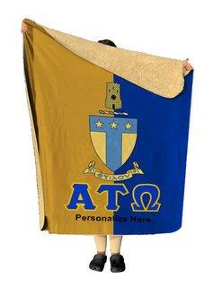 Alpha Tau Omega Two Tone Two Tone Sherpa Lap Blanket