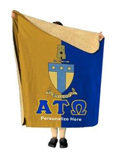 Alpha Tau Omega Two Tone Sherpa Lap Blanket