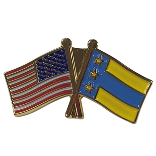 Alpha Tau Omega USA Flag Lapel Pin