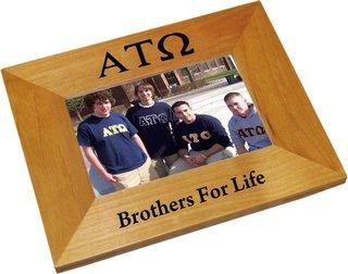 Alpha Tau Omega Wood Picture Frame