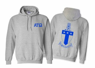 Alpha Tau Omega World Famous Crest - Shield Hooded Sweatshirt- $35!