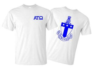 Alpha Tau Omega World Famous Crest - Shield Tee