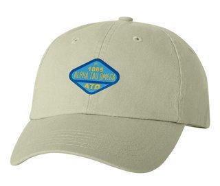 DISCOUNT-Alpha Tau Omega Woven Emblem Hat