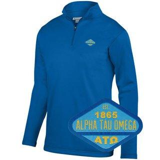 DISCOUNT-Alpha Tau Omega Woven Emblem Wicking Fleece Pullover