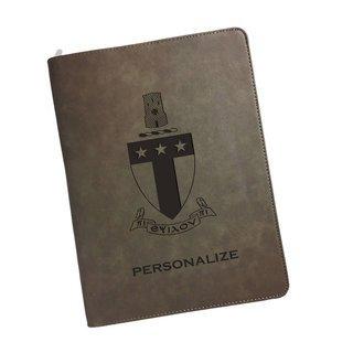 Alpha Tau Omega Zipper Leatherette Portfolio with Notepad