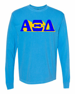 Alpha Xi Delta 3 D Greek Long Sleeve T-Shirt - Comfort Colors