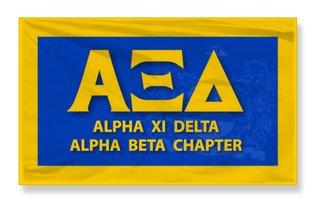 Alpha Xi Delta 3 X 5 Flag