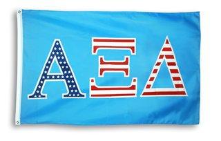Alpha Xi Delta 3 X 5 USA Flag