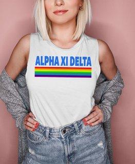 Alpha Xi Delta BELLA + CANVAS - Prism Muscle Tank