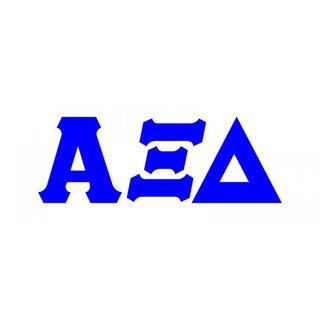 Alpha Xi Delta Big Greek Letter Window Sticker Decal
