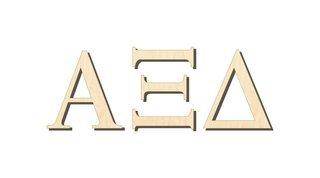 Alpha Xi Delta Big Wooden Greek Letters