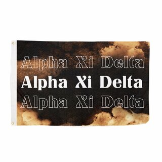 Alpha Xi Delta Bleach Wash Flag