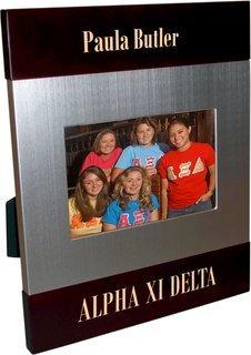 Alpha Xi Delta Brush Silver Frame